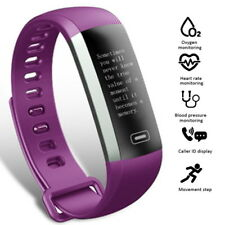 FitCloud Pro Purple Smart Watch Wristband Fitness Bracelet For iOS & Android