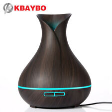 400ml Aroma Essential Oil Diffuser Ultrasonic Air Humidifier with Wood