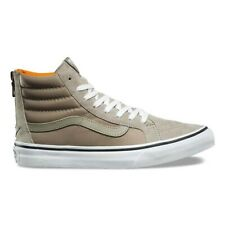 Vans Sk8-Hi Slim Zip Hi-Top Womens Trainers - Silver Sage/True White (Boom Boom)