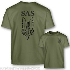 bambini ESERCITO INGLESE SAS T-SHIRT 100% TOP IN COTONE CHI OSA VINCE SOLDATO