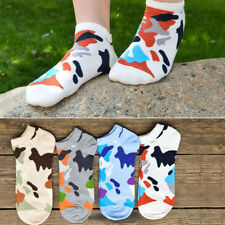 Fashion Men Camouflage Cotton Boat Socks Spring Summer Low Cut Sock Ankle Socks