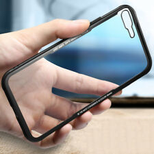 Luxury Clear Tempered Glass Explosion Proof Toughened Soft Phone Case For iPhone