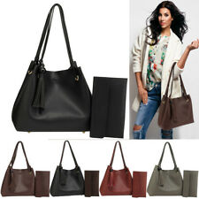 Ladies Fashion Hobo Bag With Pouch Womens Handbags Leather Shoulder Bag UK NEW