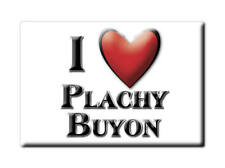 MAGNETS FRANCE RHÔNE ALPES CALAMITA SOUVENIR AIMANT I LOVE PLACHY BUYON (80)--