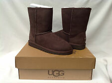 BNIB UGG Australia Chocolate Classic Short Boots (UK Adult 5.5; UK Kids 5)