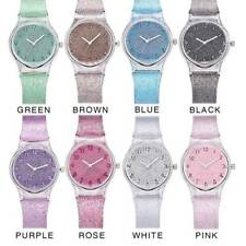 Casual Fashion Women Plastic Band Quartz Analog Wrist Transparent Glass Watch