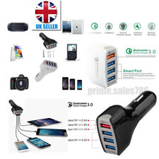 100% High Quality 4in1 Dual USB Car Charger Adapter Voltage DC 5V 3.0A  UK STOCK