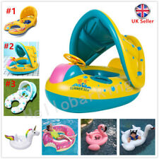 Kids Baby Float Boat Ring Wheel Toddler Swimming Pool Swim Ring Seat Adjustable