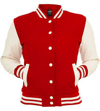 URBAN CLASSICS red/white college oldschool jacket woman giacca donna cod. TB217_