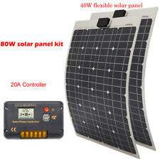 40W 80W semi-flexible solar panel battery charge (cable & controller)  for Home