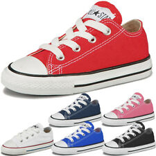 Boys, Girls Converse All Star Low Infants OX Plimsolls Trainers Shoes Pumps S...