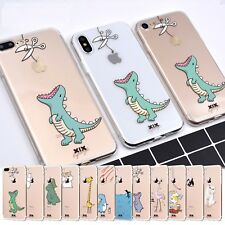 For Apple iPhone X 6s 7 8 Plus 5 5S Cute Cartoon Silicone Rubber Soft Case Cover