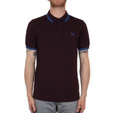X Fred Perry Twin Tipped Polo Shirt - Bramble / Prince Blue (Fred Perry Limited)