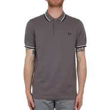 X Fred Perry Twin Tipped Polo Shirt - Iced Slate (Fred Perry Limited)