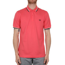 Fred Perry Twin Tipped Polo Shirt - Calypso Coral
