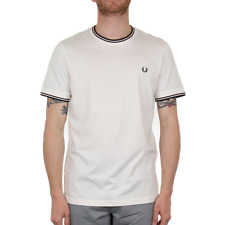 X Fred Perry Twin Tipped T Shirt - Snow White (Fred Perry Limited)