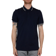 Fred Perry Twin Tipped Polo Shirt - Carbon Blue / Snow White / Navy