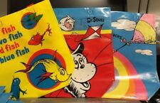 Dr Seuss Reusable Tote Bags Gift Treat Bags Activity Book Bag Laminate Set Of 3