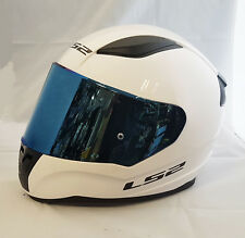 LS2 FF353 RAPID CASCO INTEGRALE MOTO BIANCO IN BLU IRIDIUM VISIERA