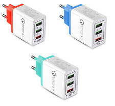 TecMac Qualcomm Quick Charge 3.0, 18W, 3-Ports USB Wall Charger
