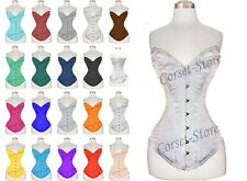 Double Steel Boned Waist Training Long Line Satin Over bust Corset 8135LS