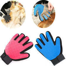 Pet Grooming Glove Brush Dog Cat Fur Hair Removal Cleaning Massage Deshedding