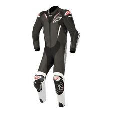 Alpinestars Leather Atem V3 Motorcycle Motorbike 1 Piece Suit Black/White