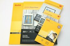 """KODAK 4"""" x 6"""", 5"""" x 7"""" OR A4 GLOSS INSTANT DRY PHOTO PAPER IN 20 OR 50 SHEETS."""