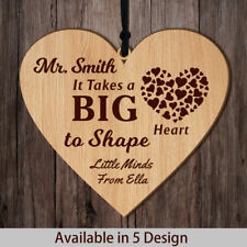 Personalised Teacher Thank You Gift Wooden Plaque End of Term Leaving Present