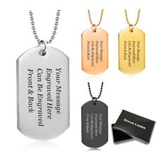 0.925 Sterling Silver US Army Dog Tag Military Charm Pendant