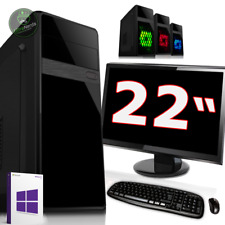Allround PC Komplett Set mit Monitor TFT 22 • AMD A10 Quad Core 4x2.8GHZ • 8GB R
