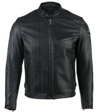 BELL SCHOTT CASUAL MENS BLACK HORSE LEATHER MOTORCYCLE MOTORBIKE JACKET
