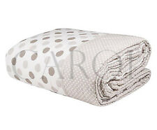 TRAPUNTA INVERNALE PIUMONE- POIS(gr 320) DOUBLEFACE -BEIGE-100%MADE IN ITALY