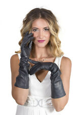Parisi Leather Gloves Silk 40 cm / guanti pelle fod. seta 40cm  leder handschuhe