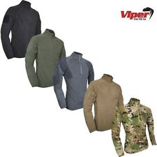 VIPER ELITE MID-LAYER FLEECE MENS S-2XL THERMAL ZIP NECK PULLOVER TOP ARMY MTP