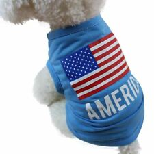 American Flag dog clothes for small dogs spring summer pet clothes summer dog cl