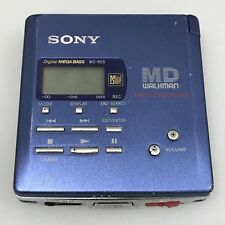 SONY Blue MZ-R55 Walkman Personal Minidisc Player Mega Bass Vintage 1990's 12871