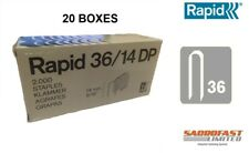 RAPID 36/14 DP CABLE TACKER STAPLES - 20 BOXES OF 2,000