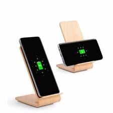 Qi Fast Wireless Charger Power Bank Black Wood Wireless Charger Charging Stand D
