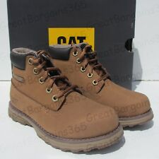 61dde71eb Caterpillar Unisex Founder Ankle Boots Bronze Brown Leather Kids UK12 EUR  31 New