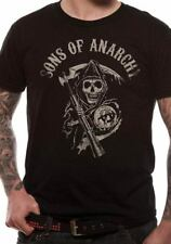 OFFICIAL Sons Of Anarchy Reaper Logo T Shirt  Black !