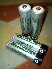 18650 Battery 3.7V Rechargeable Li-ion with 3000 mah# 100% VIPOW Branded