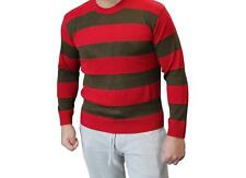 HALLOWEEN FREDDY NOTTE MARE ON ELM STREET ROSSO E VERDE maglione