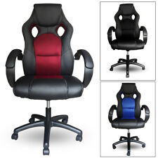 Silla de oficina racing gaming sillon de despacho escritorio color Azul Rojo