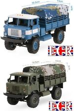NUOVO WPL 1:16 Scala 2.4G RC 4x4 MILITARE CAMION & Baldacchino compat. henglong