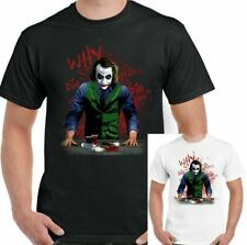 WHY SO SERIOUS? Divertente da uomo Joker T-Shirt Batman Heath Ledger