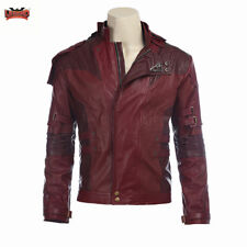 Guardians of Galaxy Vol 2 Cosplay Outfit Star Lord Peter Red Jacket Coat Costume