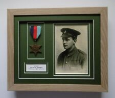 Medal Frame - 1 Medal Display/photo aperture/title box - REAL WOOD Frame