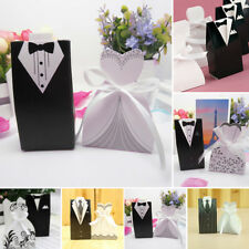 Wedding Candy box Favor Chocolate Groom Dress Tuxedo with Ribbon Shower Pack