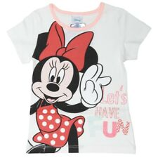 T-Shirt Minnie Let's Have Fun - Manches Courtes - Blanc